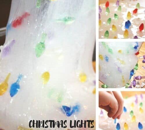 Christmas Lights Slime For Festive Christmas Science and Sensory Play