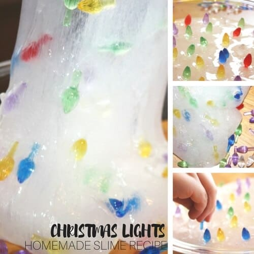 Christmas lights slime recipe