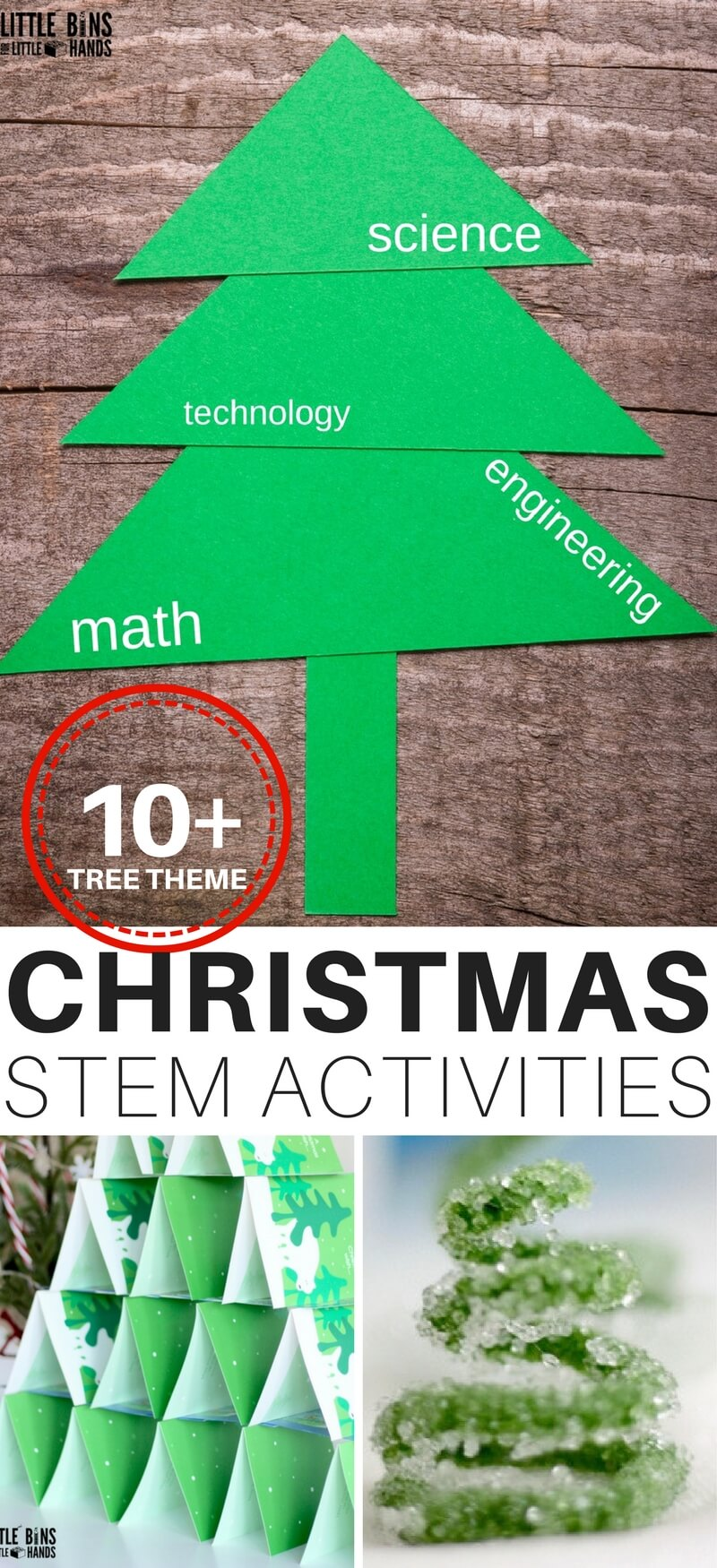 These fun Christmas STEM activities are the perfect science activities for toddlers! Learn just how much fun STEM and the Christmas holiday can be! #STEM #holiday #education #Christmas