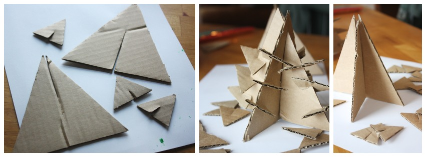 Christmas Tree STEM Cardboard tree STEM activity Set Up