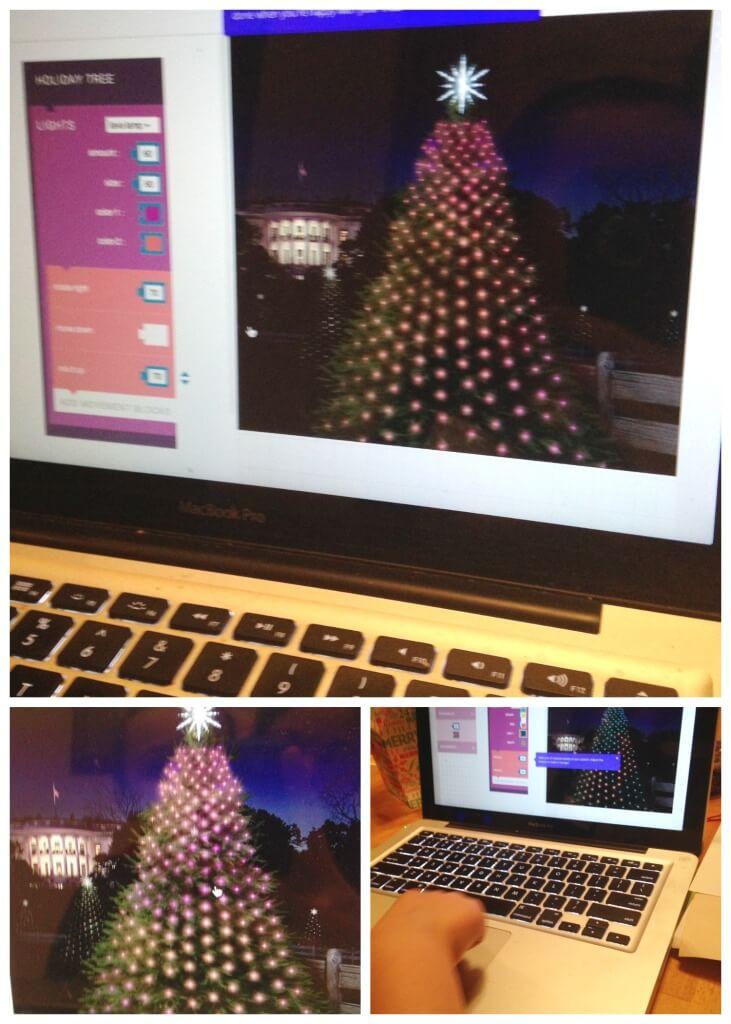 Christmas Tree STEM Coded Christmas tree lights