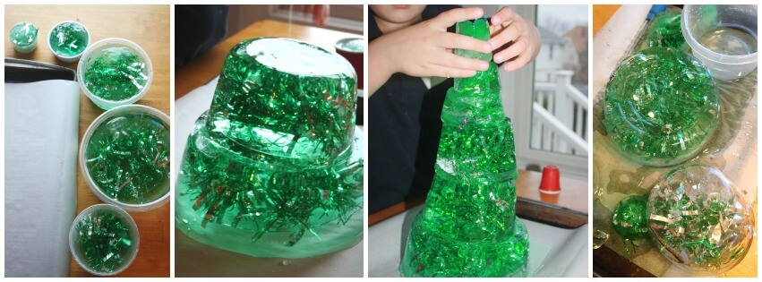 Icy Christmas Tree STEM Ice tree building engineering activity