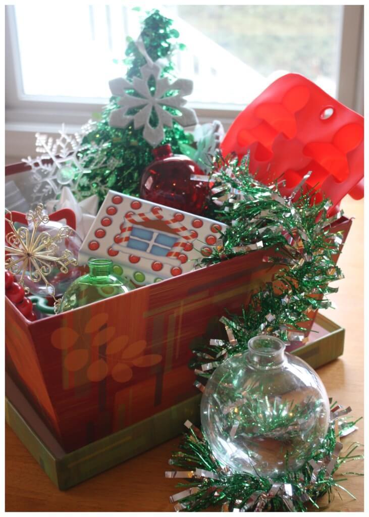 Christmas treasure basket for toddler