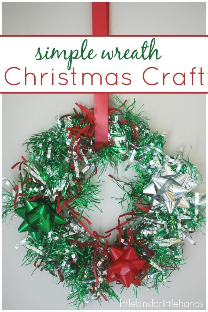 Christmas wreath craft activity