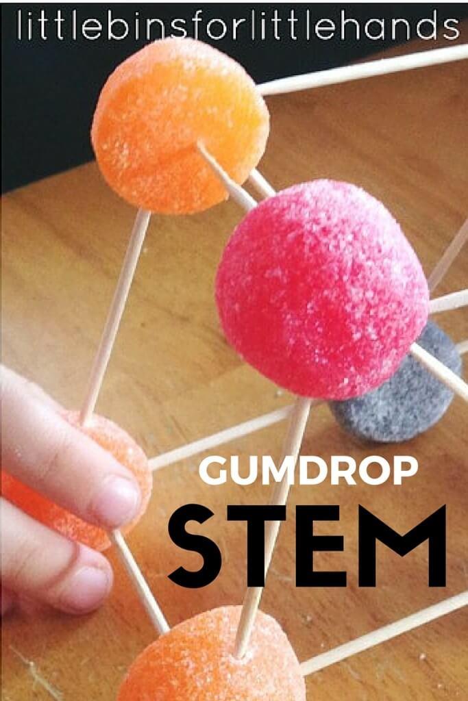 Gumdrop Bridge Building STEM candy structures activity