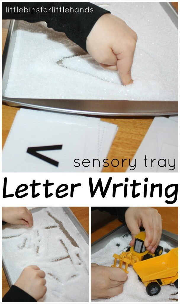 Letter Writing Sensory Tray Activity