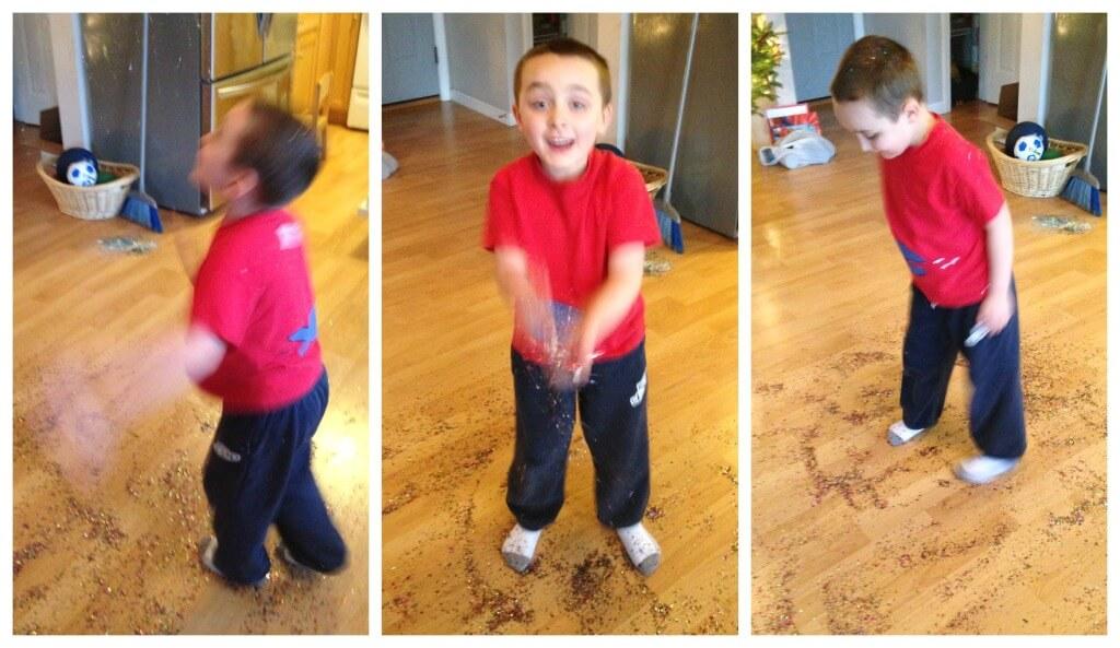 New Year Confetti Ornament Part Idea for kids