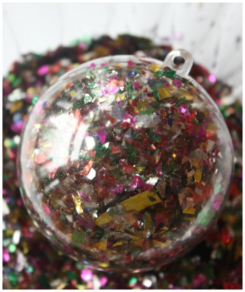 New Years Confetti Ornament Party Idea Activity
