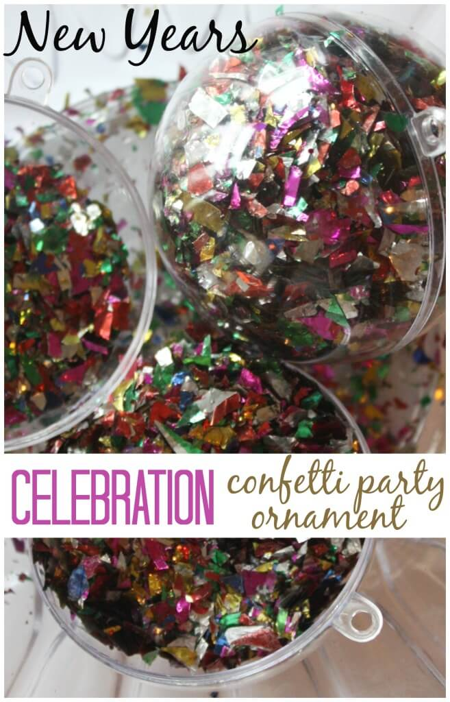 New Years Confetti ornament party Idea