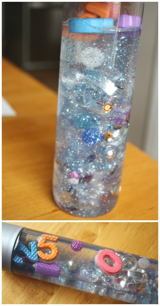 New Years Discovery Bottle Sensory Bottle