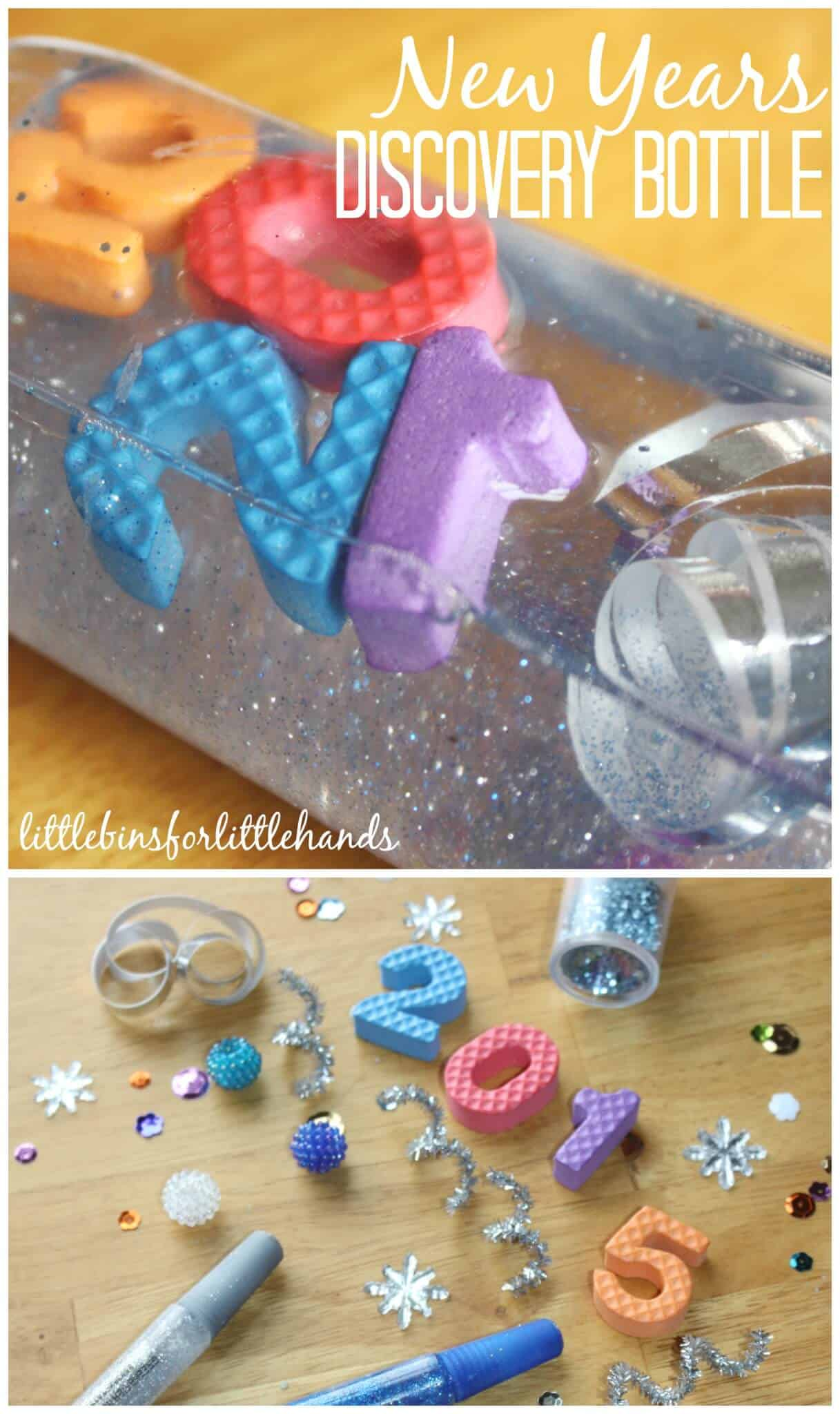 New Years Discovery Bottle Sensory Activity