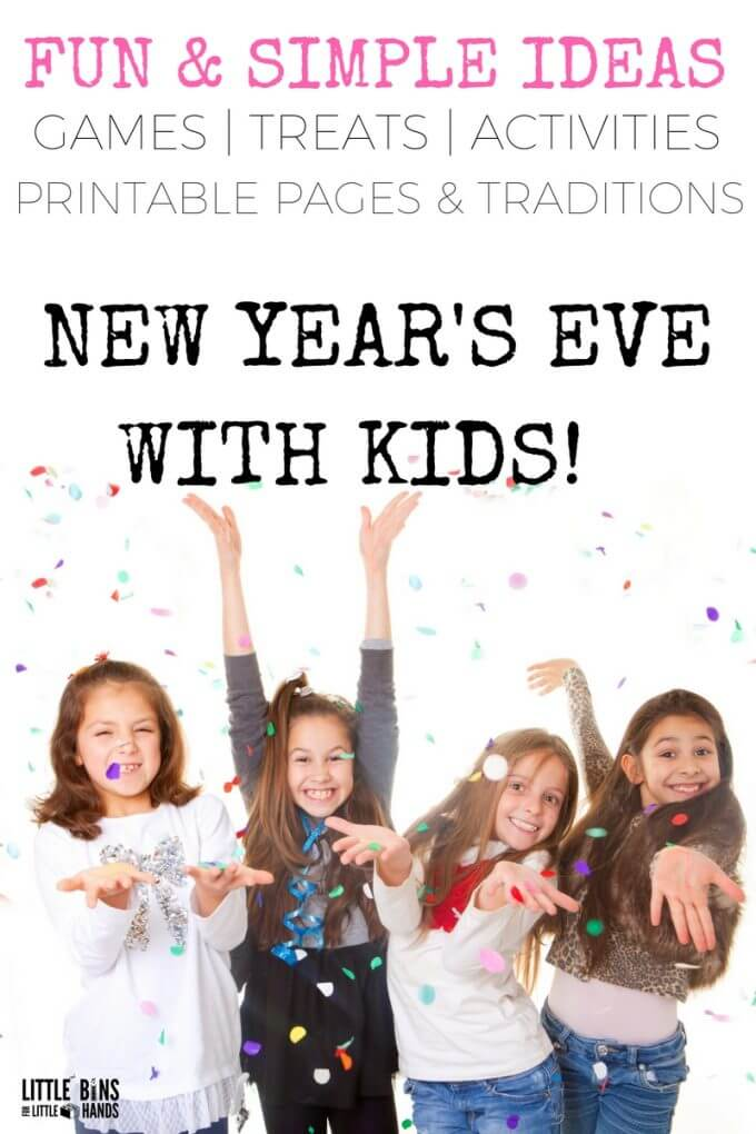 The best kids New Years Eve Party ideas and activities that are fun, simple to set up and low cost for New Years fun!