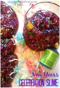New Years Slime Celebration Idea