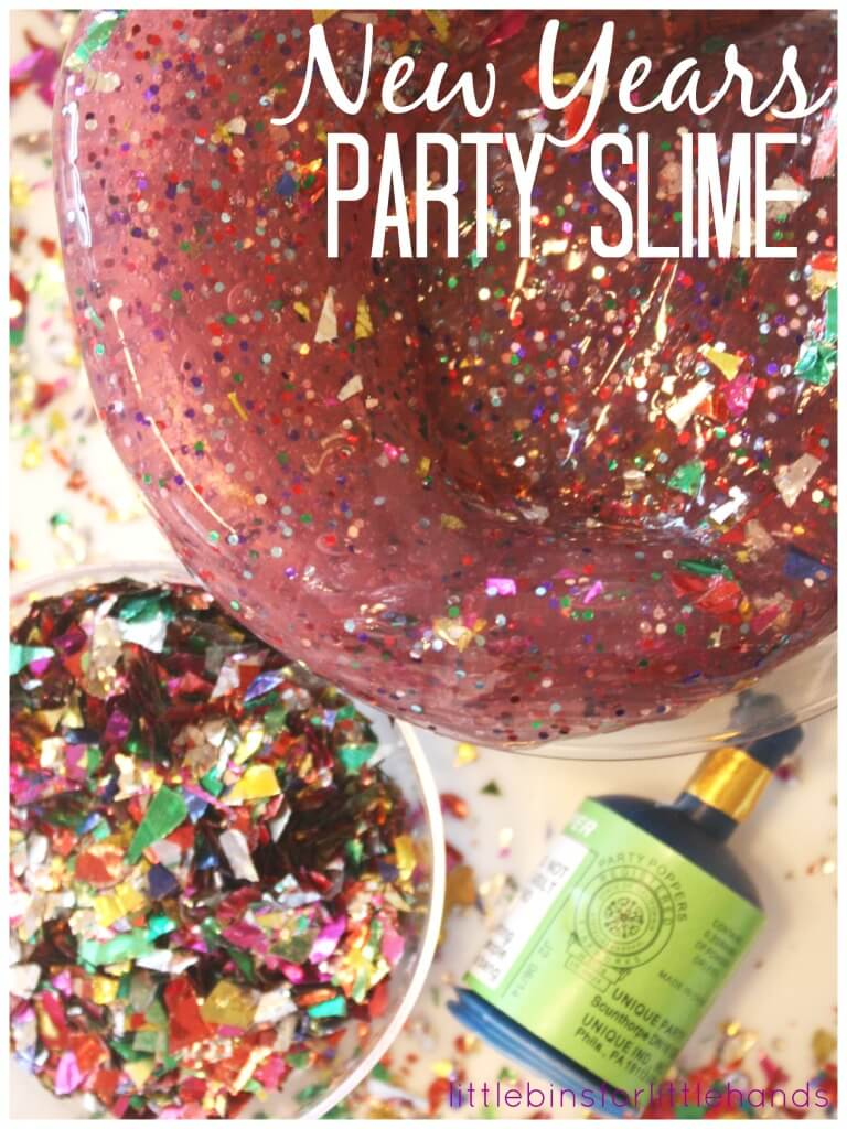 New Years Slime Celebration Slime Party Slime confetti poppers