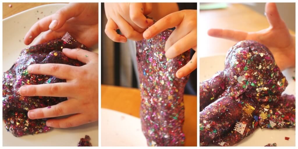 New Years Slime Confetti Party Slime Sensory Play