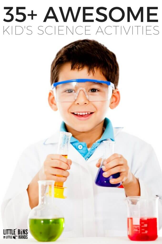 Awesome early elementary, kindergarten, and preschool science activities and experiments for kids. Easy to set up science experiments and activities for families and classrooms for every little scientist!