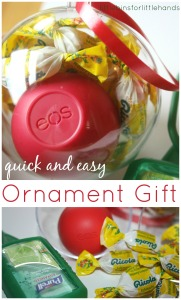 Quick and easy, Inexpensive Teacher Gift eos ornament