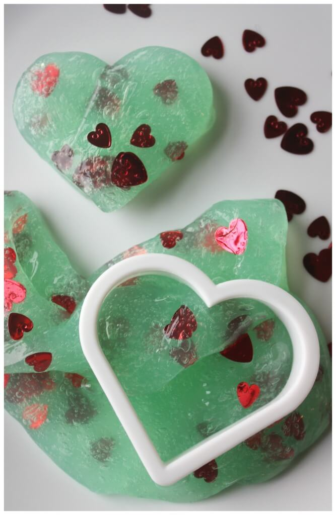grinch slime heart slime cookie cutter confetti slime play
