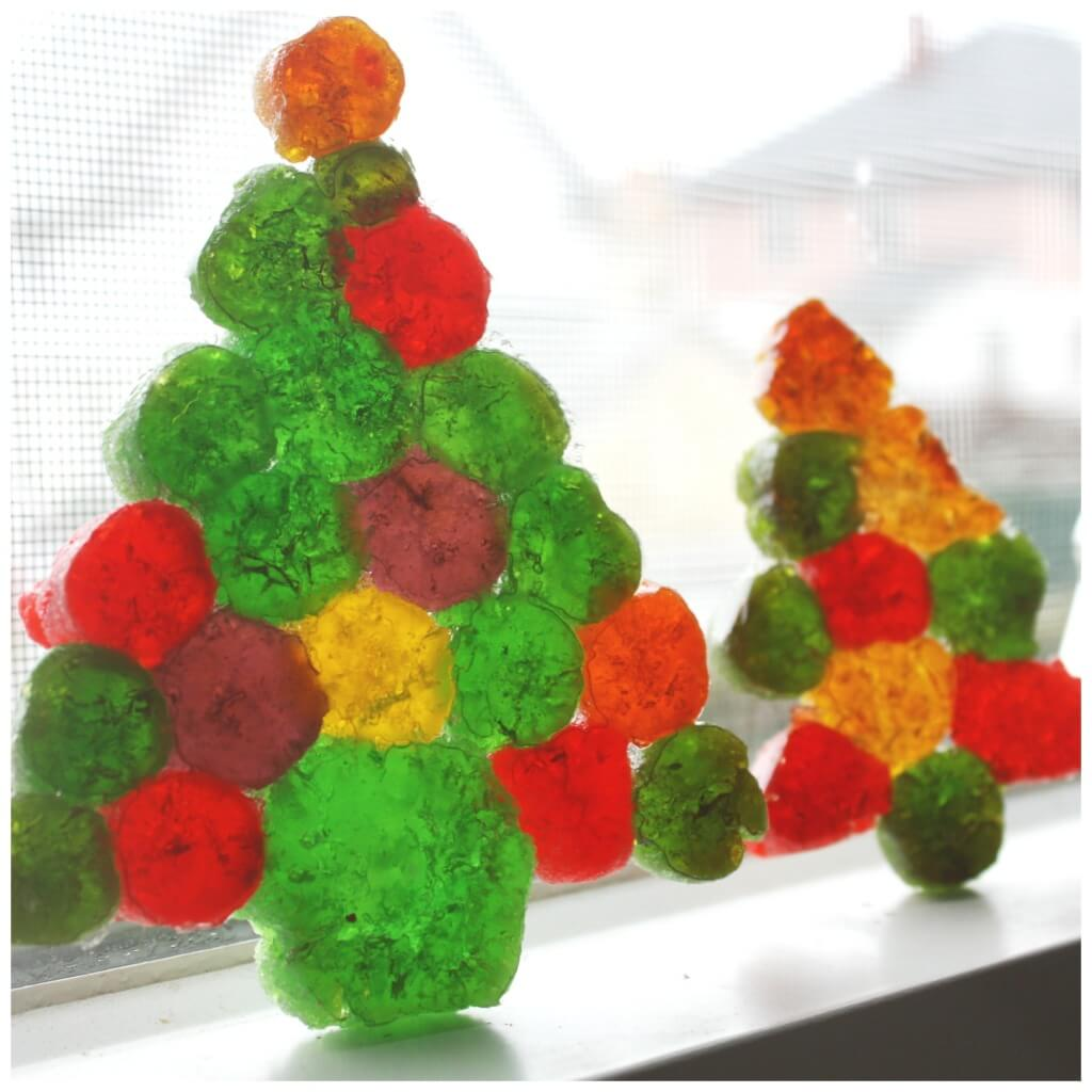 gumdrop science melted candy ornament christmas decoration melting science