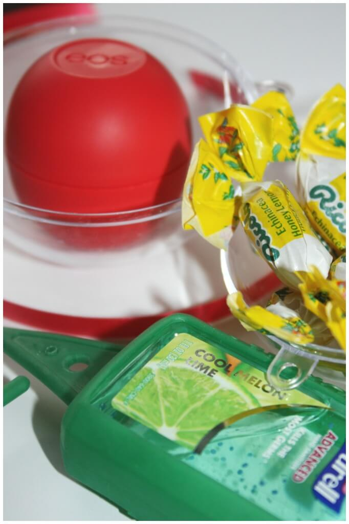 quick and easy teacher gift eos riccola hand sanitizer