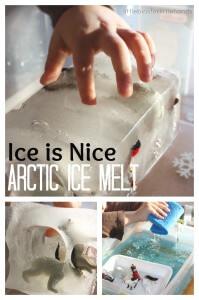 Arctic Ice Sensory Play Winter Ice Melt Milk Container