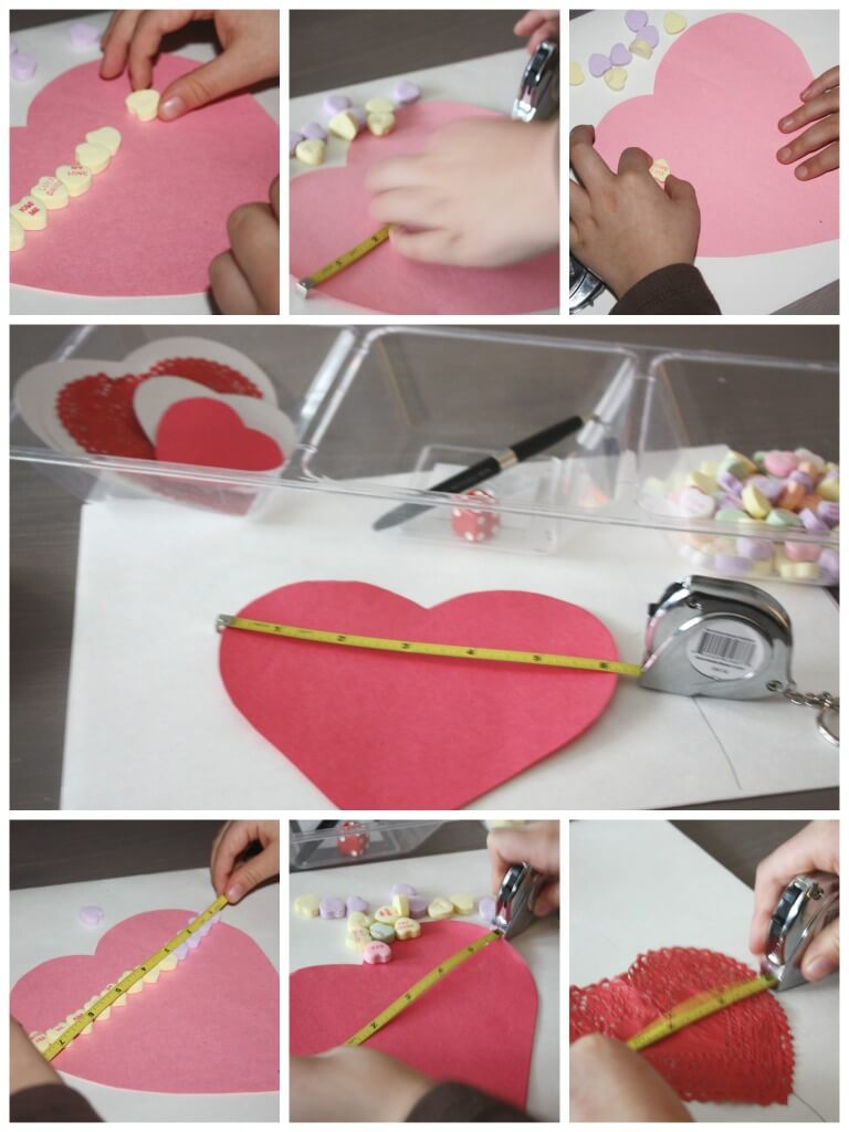 Candy Heart Measuring Math Preschool Math Valentines Day