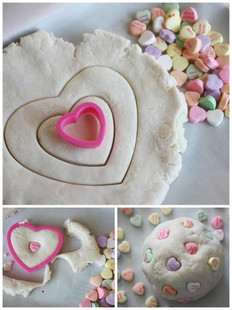 Candy Heart Salt Dough Making Hearts Cookie Cutter Play