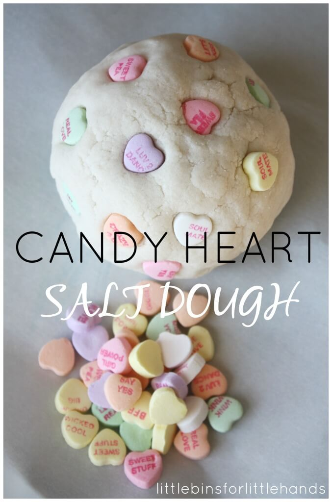 Candy Heart Salt Dough Recipe Homemade Sensory Play
