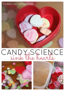 Candy Hearts Science Sink Boat Activity