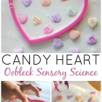 Candy hearts obelisk science sensory Valentines activity