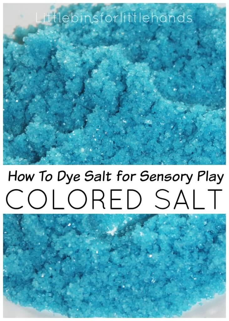 Colored Salt How T Dye Salt for Sensory Play
