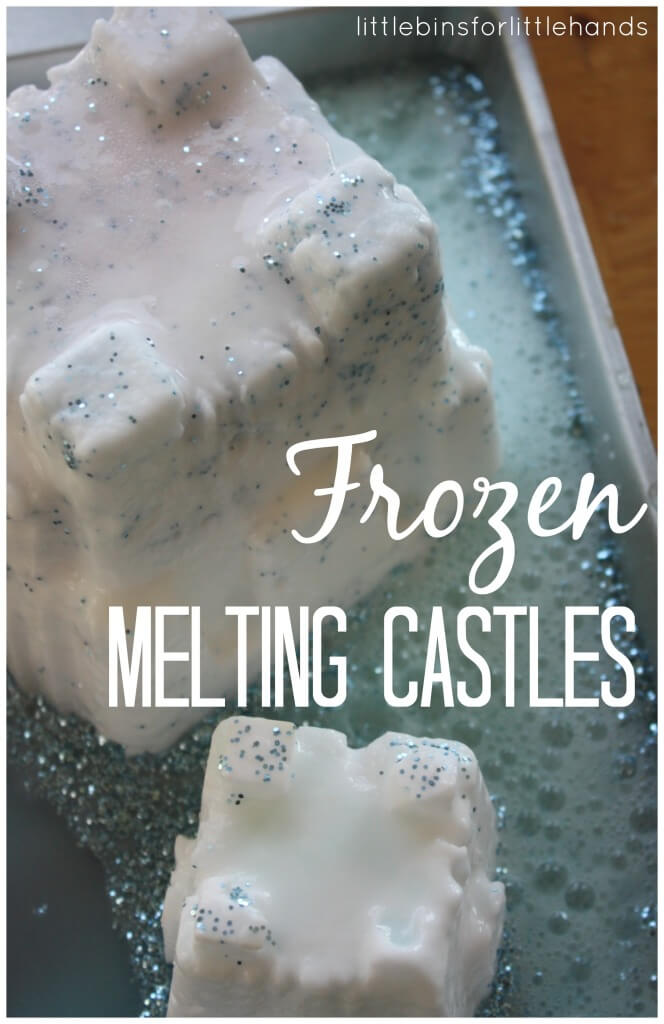 Frozen Inspired Melting Castles Baking Soda Science Activity Sensory Play