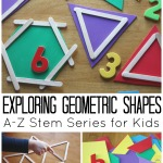 Geometric Shapes Activity STEM activity for kids Math Activity hands On Learning