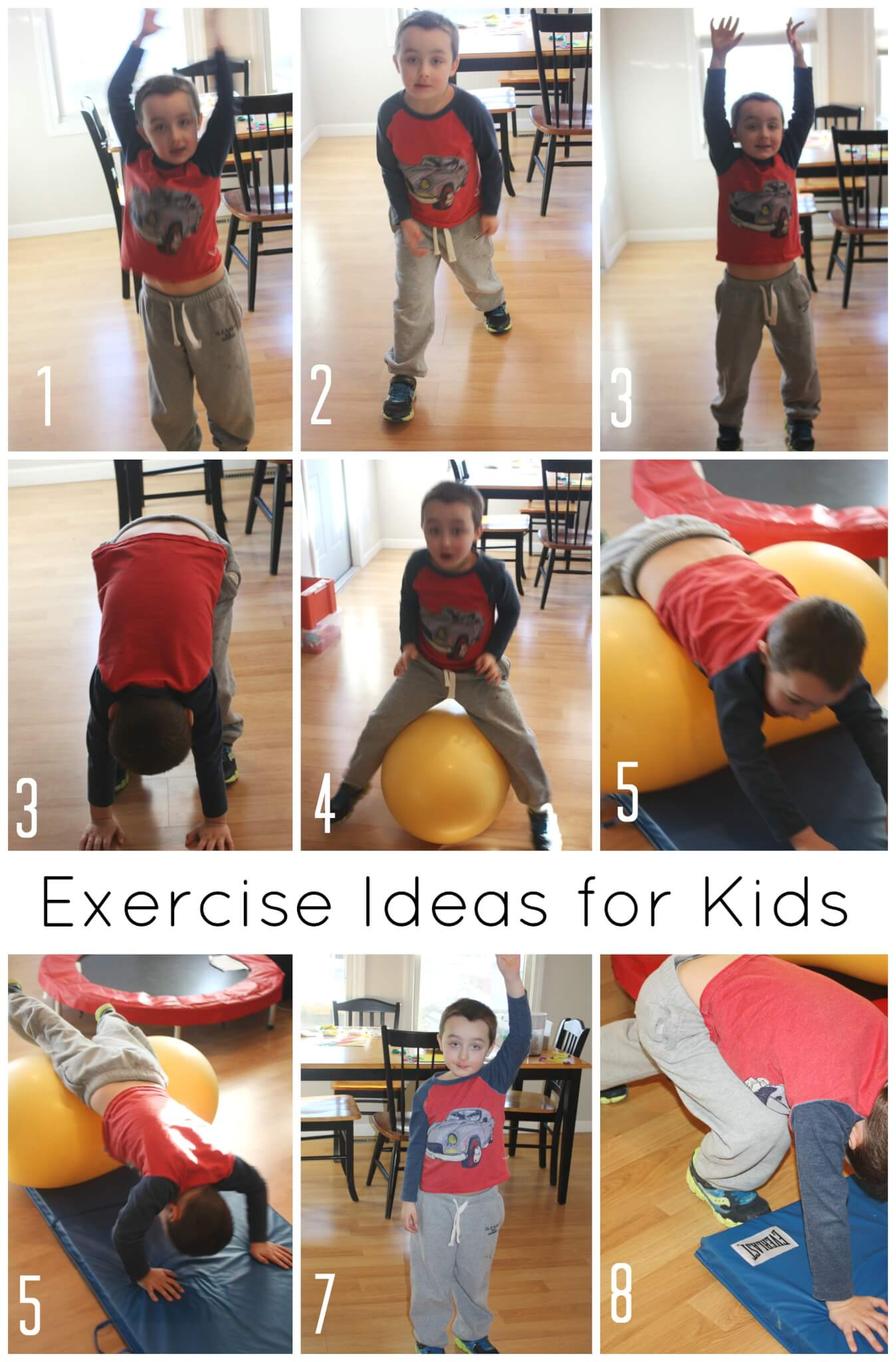 Kids Exercises For High Energy Indoor Gross Motor Play