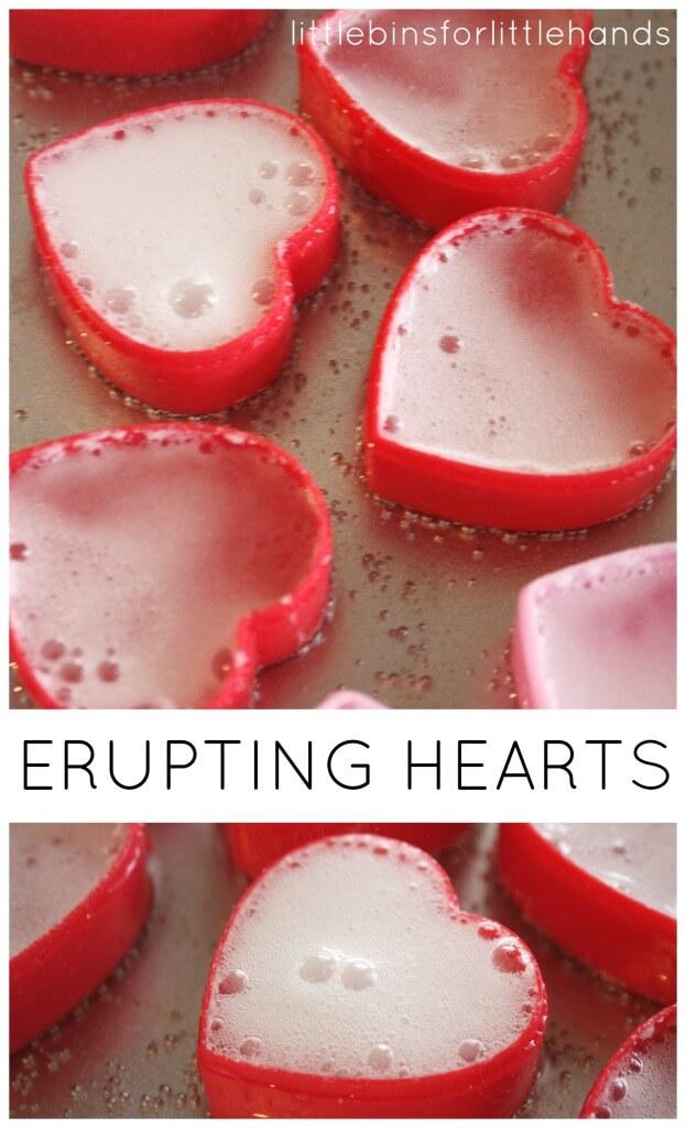 Heart Eruptions Fizzy Erupting Hearts Science Sensory Activity Alka Seltzer