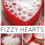 Heart Eruptions Fizzy Erupting hearts fizzy science sensory play