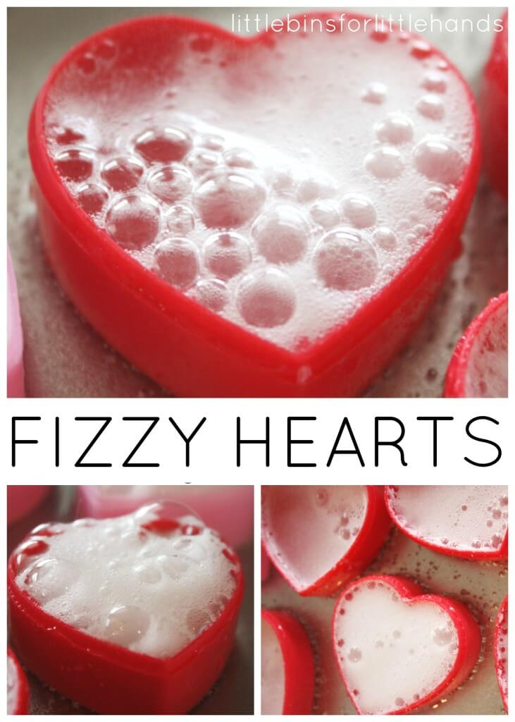 We love celebrating the holidays with chemistry experiments and activities. Fizzy heart eruptions Valentines science activity is an easy and quick science sensory activity for toddlers and preschoolers! It's a great opportunity to use a few of the senses while exploring a simple chemical reaction. Holiday science and STEM is so much fun!