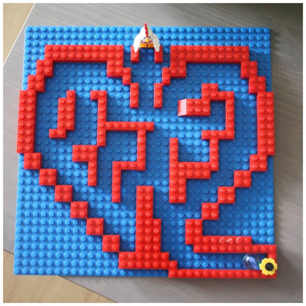 Heart Lego Marble Maze Lego Engineering Challenge Lego Building Idea for Kids