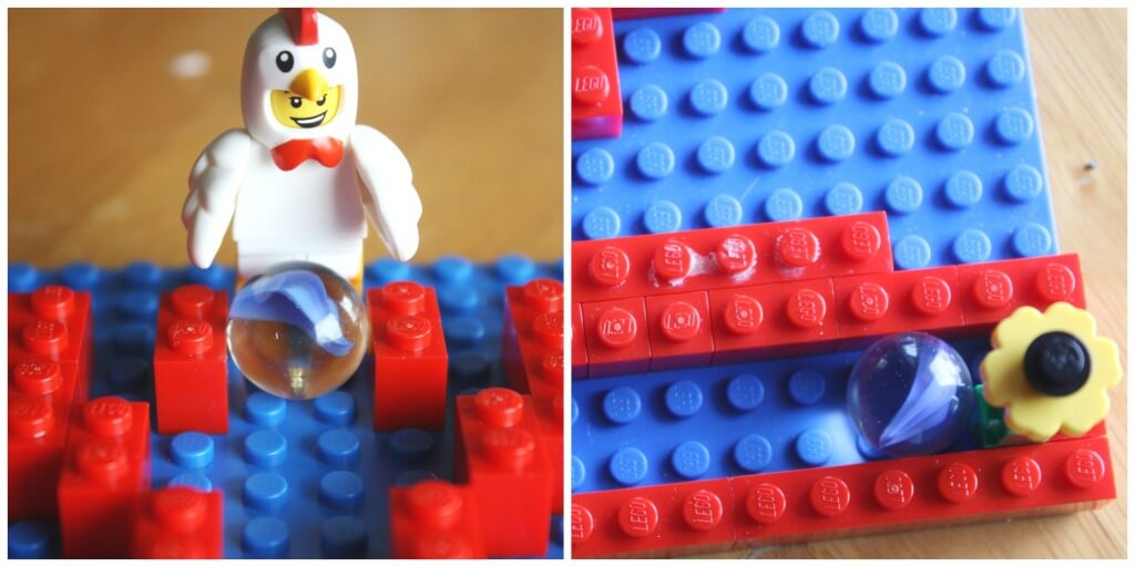 Heart Lego Marble Maze Start Finish Lego Building Challenge