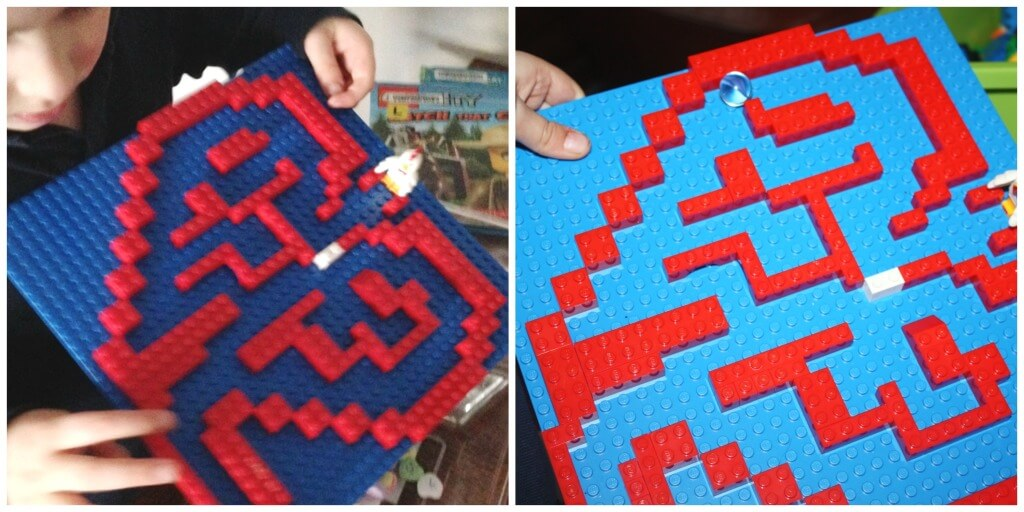 Heart Lego Marble Maze Visual Tracking Lego Building Challenge