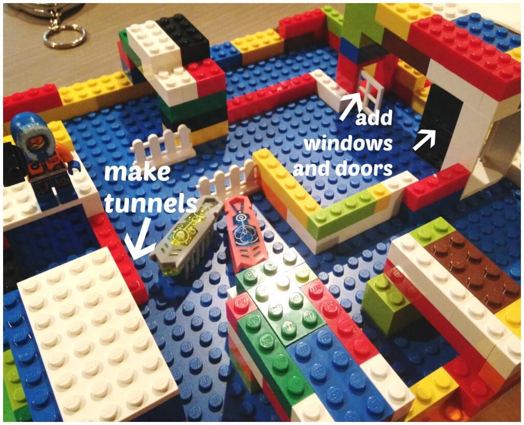 Hex Bugs Lego Habitats Using Lego Base Plate Maze