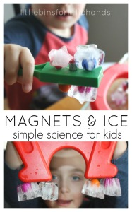 Ice Magnet Play Preschool Magnet Science and Ice Activity