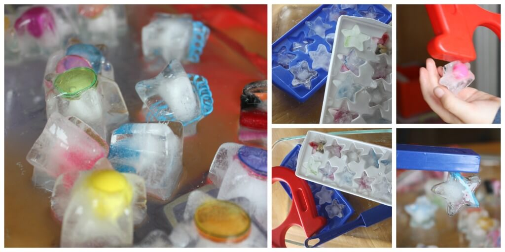 Ice Magnets Magnetic ice science activity sensory play