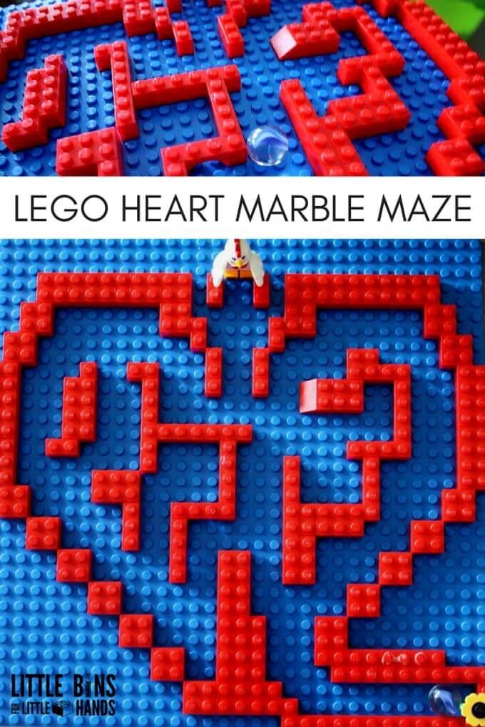 LEGO HEART MARBLE MAZE