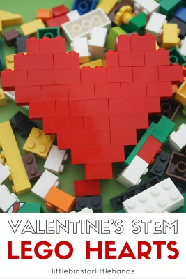 LEGO Hearts STEM Activity Valentine's Day Engineering Project