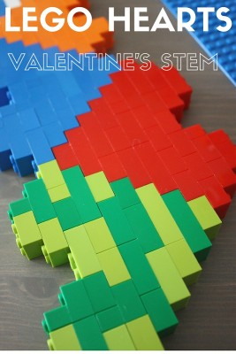 LEGO Hearts Valentine's Day STEM Activity Engineering