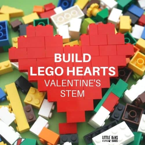 Lego Heart Valentines Day Stem Activity For Kids