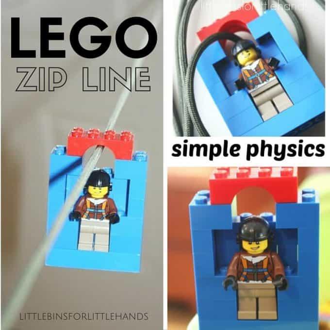 LEGO Zip Line Homemade Toy Indoor Activity