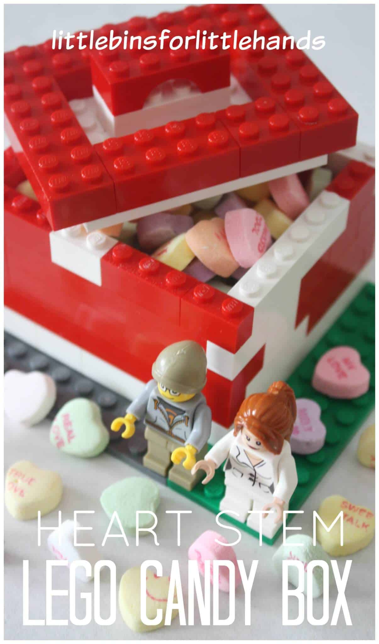 Lego Candy Box for Candy Hearts Activity STEM