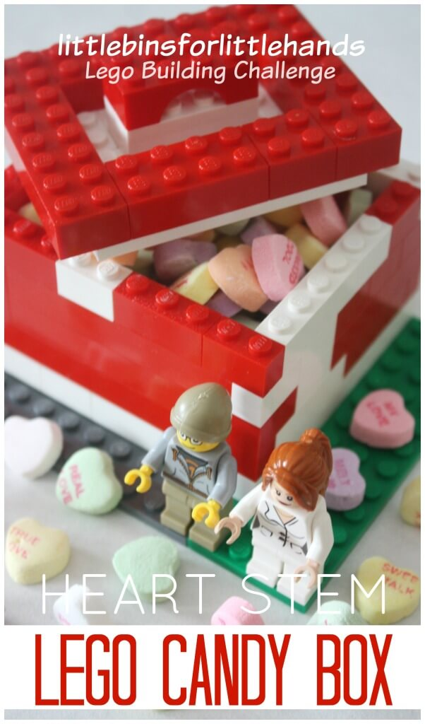 Lego Candy Box Candy Heart STEM Heart Lego Engineering activity
